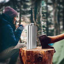 Premium Stainless Steel Hip Flask with Funnel (8 oz)