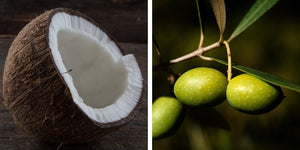 Coconut oil for sensitive skin, olive oil for sensitive skin, Organic face wash for sensitive skin