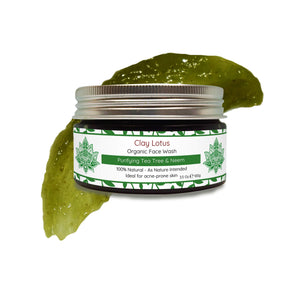 Organic Face Wash for Acne & Oily Skin: Purifying Tea Tree & Neem