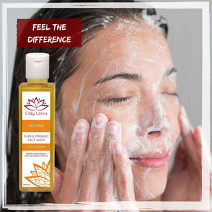 Organic Facial Cleanser for oily skin. 100% natural