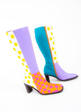 PATTERN FLASHER SQUARE TOE BOOTS