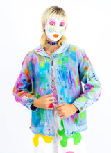 PAINT BY NUMBERS DENIM COAT