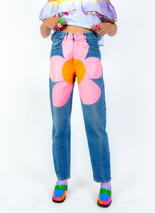 FLOWER BOMB DENIM PANTS (28