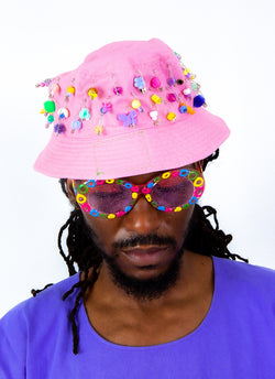 BEADED TREAT BUCKET HAT (2 colors)