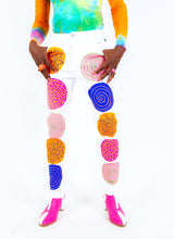"DOT ATTACK PAINTED DENIM PANTS (32"")"