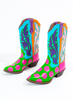WATERMELON SLICE COWGIRL BOOTS (size 9)