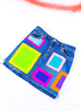 "UR BLOCKED DENIM SKIRT (27"")"