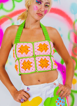 HALTER HOTTIE CROCHET TOP