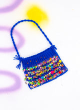 BLUE WITHOUT YOU BEADED PURSE