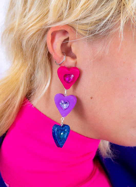 FRIENDSHIP HEARTS EARRINGS