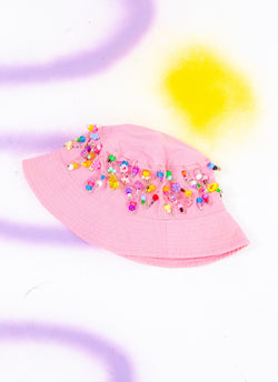 BEADED TREAT BUCKET HAT