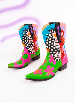 CLOWN TEARS COWGIRL BOOTS