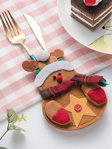 Christmas Elk Knife & Fork Cover 2pcs