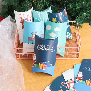 5/10pcs Christmas Gift Box Pillow Shape Xmas Tree