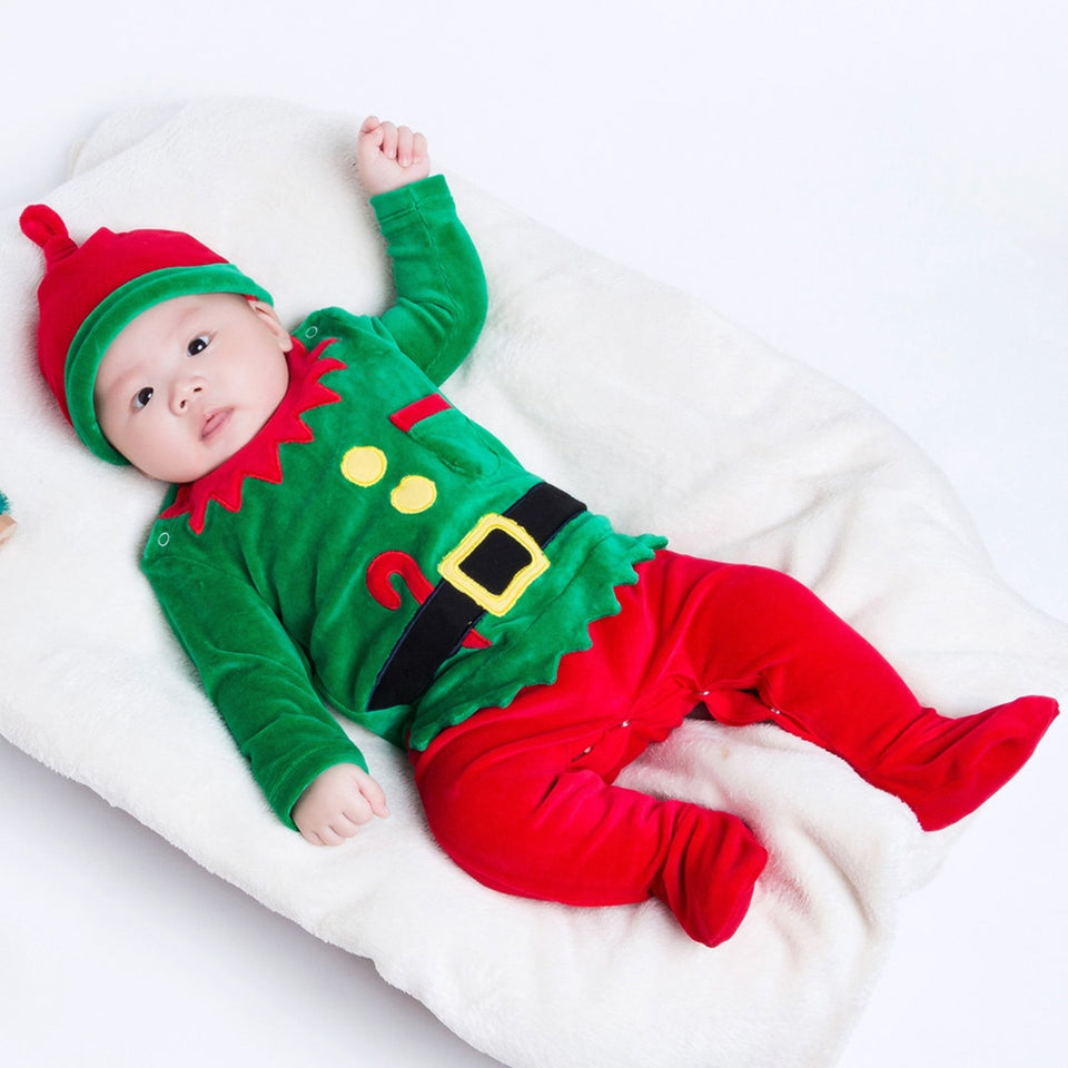 Christmas Baby Romper Boy Girl Clothes Infant Baby