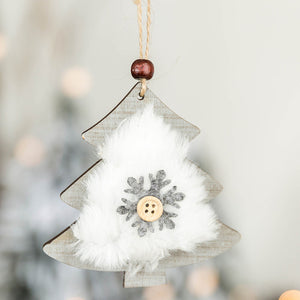 Christmas Decor Gifts Wooden Ornament Room Pendant