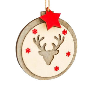 Christmas Decoration Wooden Ornaments New Year