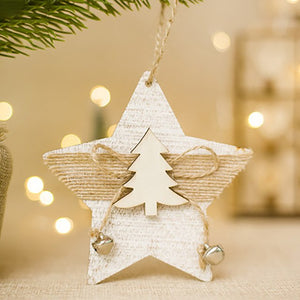 Christmas Ornament Snowflake Wood Embellishments