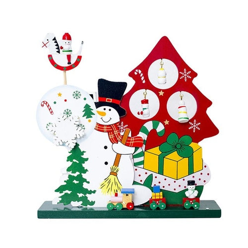 Christmas Snowman Wooden Home Decorative Xmas