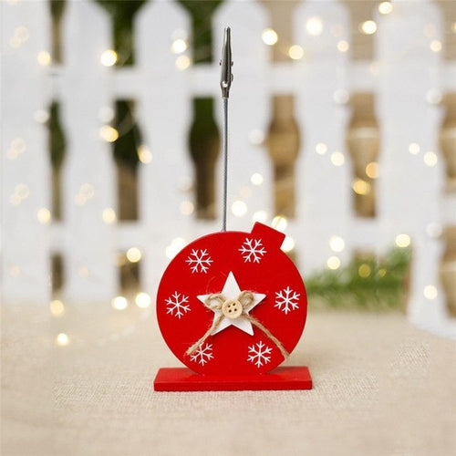 Creative Christmas Ornament Wooden Business Card
