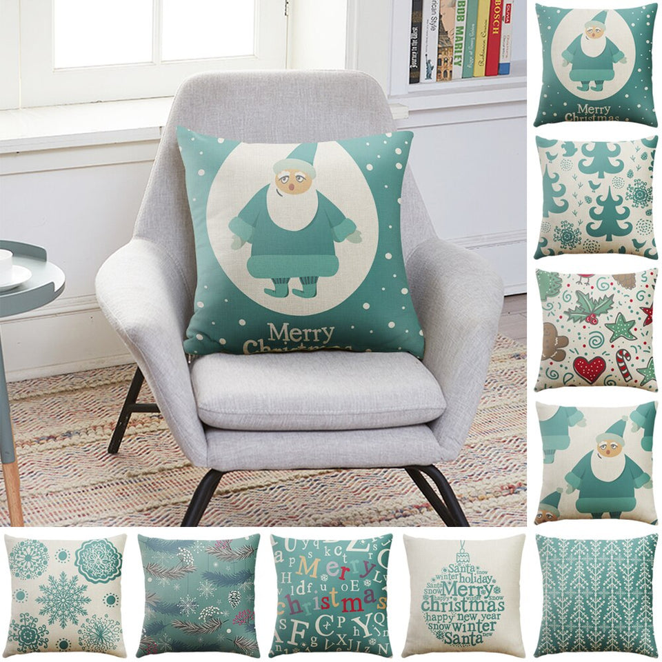 DIDIHOU 45*45cm Christmas Cushion Covers Cotton