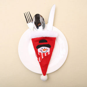 Hot Sale 10pcs Christmas Decorative Tableware Fork