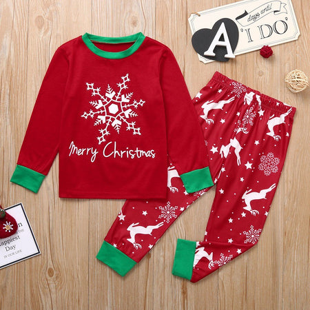 Toddler Kids Baby Clothes Sets Christmas Children