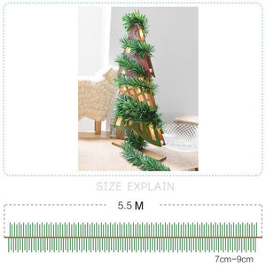 Xmas New 5.5M PVC+Iron Wire Christmas Party Xmas