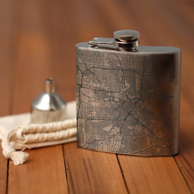 Houston - Texas Map Hip Flask