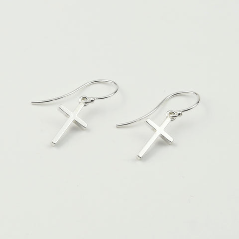 Tiny Cross Earrings