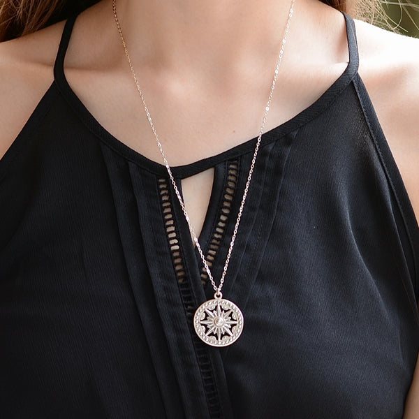 Sundial Necklace - Sash Jewelry