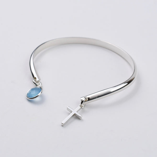 Cross Cuff Bracelet - Sash Jewelry