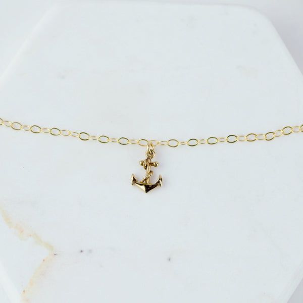Anchor Anklet - Sash Jewelry