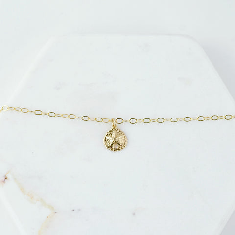 Gold Sand Dollar Anklet - Sash Jewelry