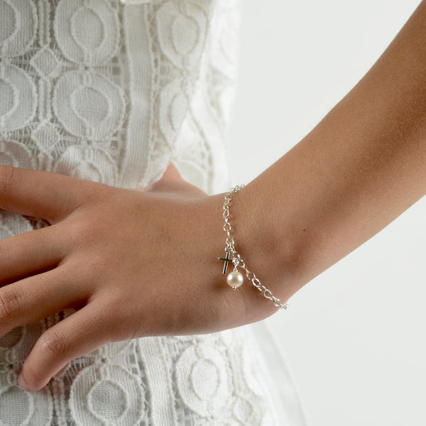 Cross Bracelet - Girl Bracelet - Sash Jewelry