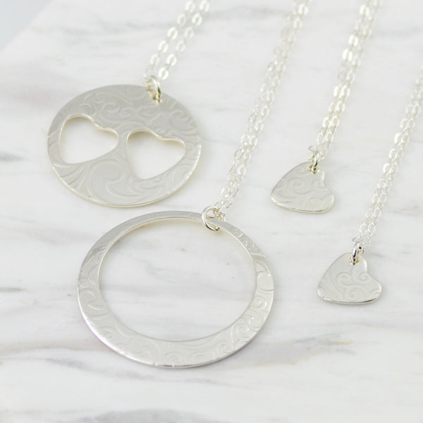 Generations Necklaces • Grandmother, Mother, and Two Granddaughters - Sash Jewelry