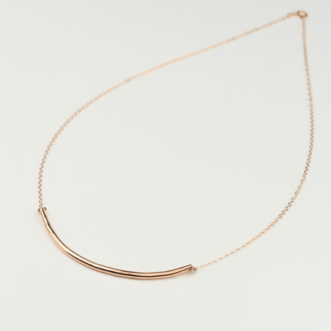 Curved Bar Necklace - Sash Jewelry