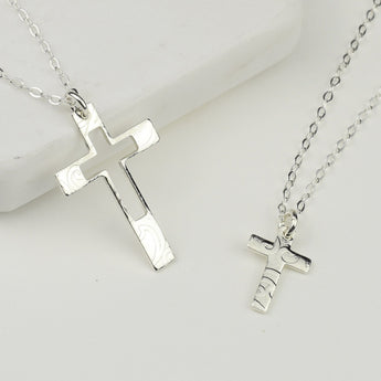 mother daughter cross necklace set