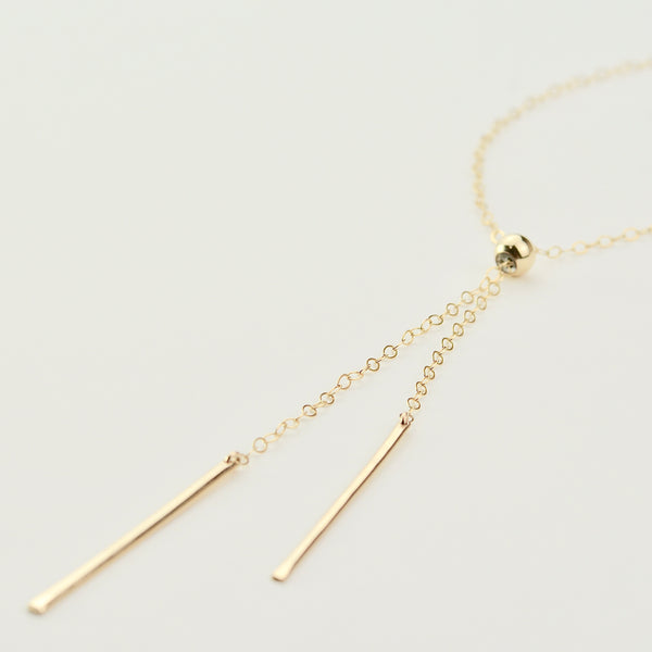 Bars Adjustable Long Necklace - Sash Jewelry