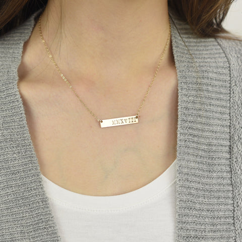 be•you Horizontal Bar Necklace - Sash Jewelry