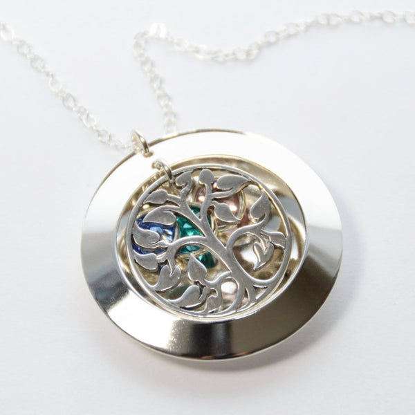 Tree of Life Locket Necklace - Sash Jewelry
