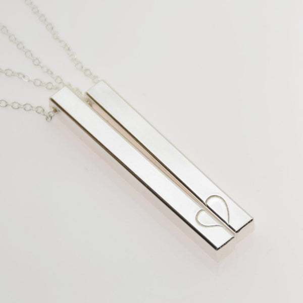 Mother Daughter bar necklace set - Sash Jewelry