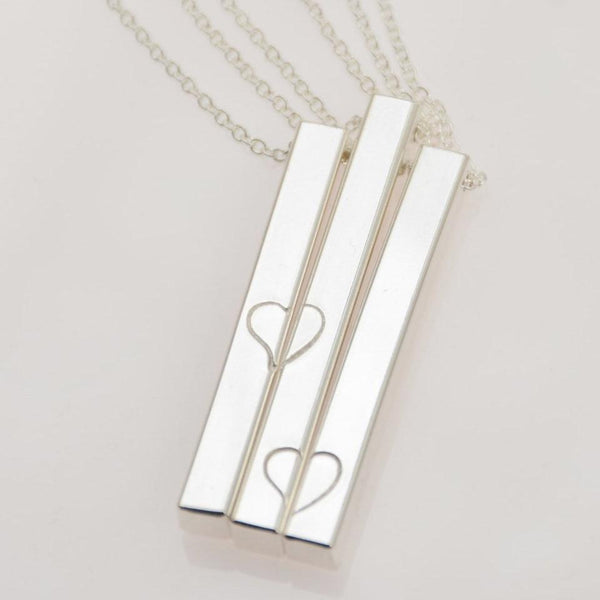 Mother Two Daughters Bar Necklace Set - Sash Jewelry