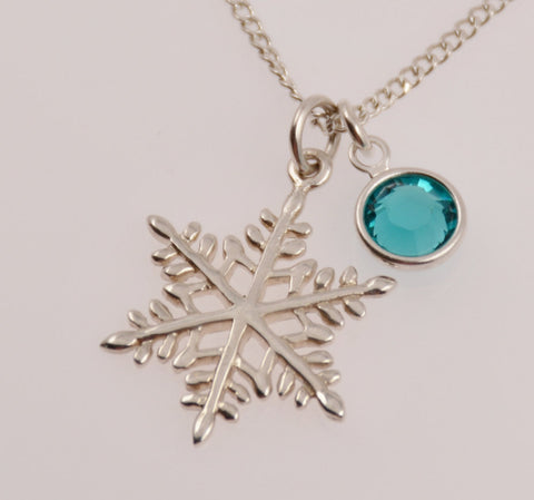 Snowflake necklace - Sash Jewelry
