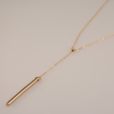 Gold Bar Necklace - Sash Jewelry