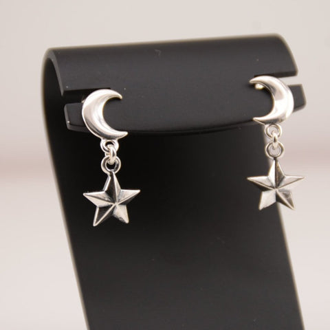 Moon Star Earrings - Sash Jewelry