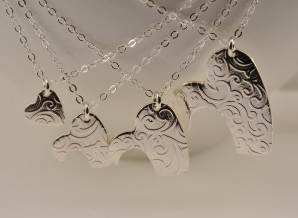 4 Generations Necklace Set, Great Grandmother, Grandmother, &  Mother Daughter Necklace Set - Sash Jewelry