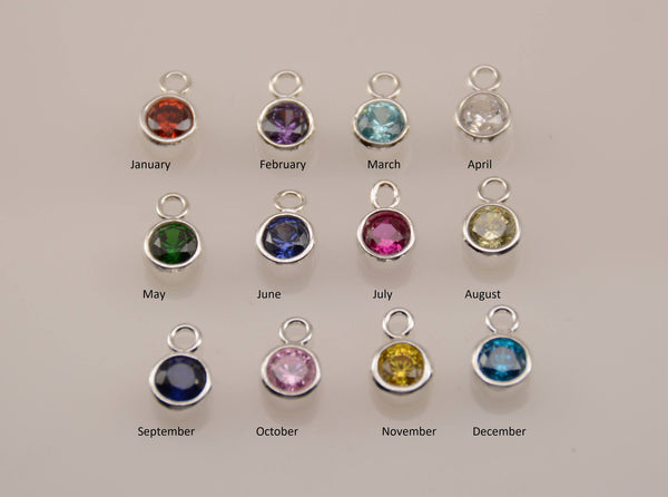 Add-on Birthstone, 4mm CZ Birthstone - Sash Jewelry