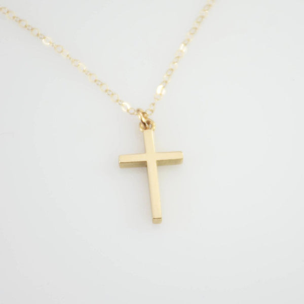 14K Gold Cross Necklace - Sash Jewelry