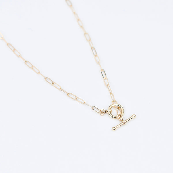 14K Gold Toggle Necklace